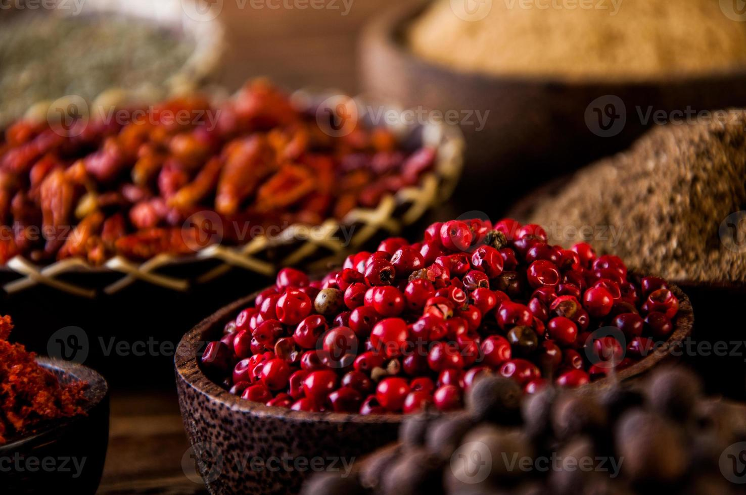 Colorful spices, oriental theme photo