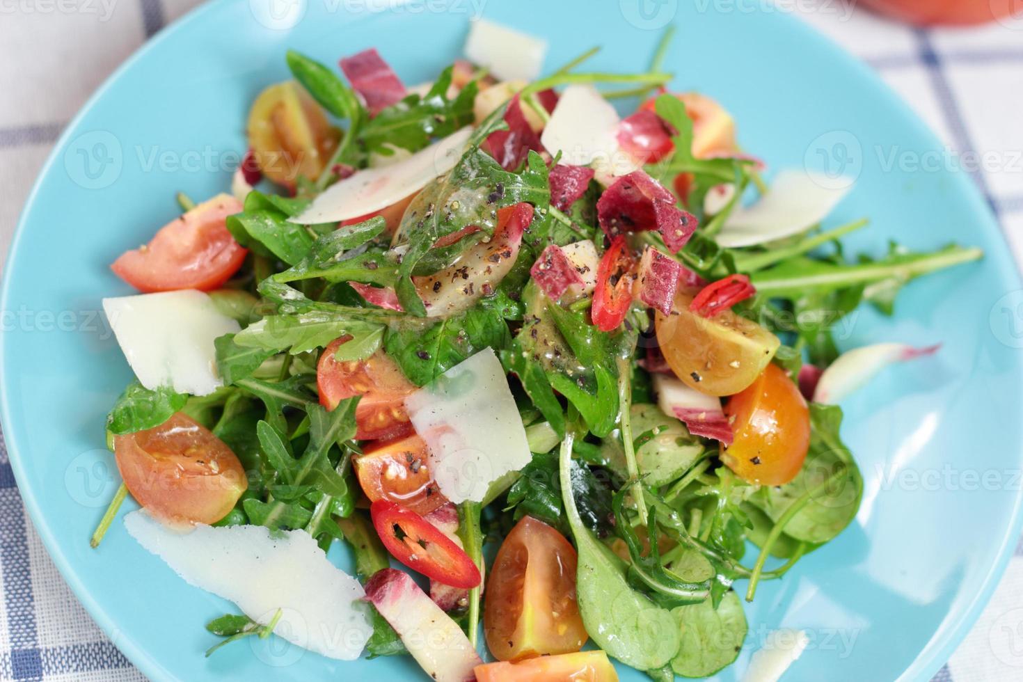 Tomato and lettuce salad. photo