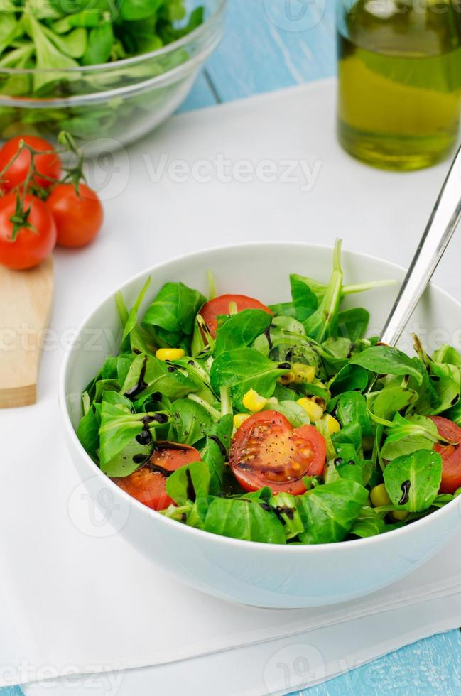 Salad with lamb's lettuce photo