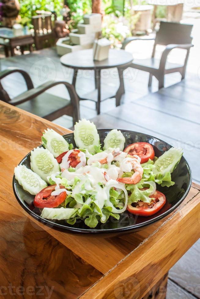 Shrimp salad Organic photo