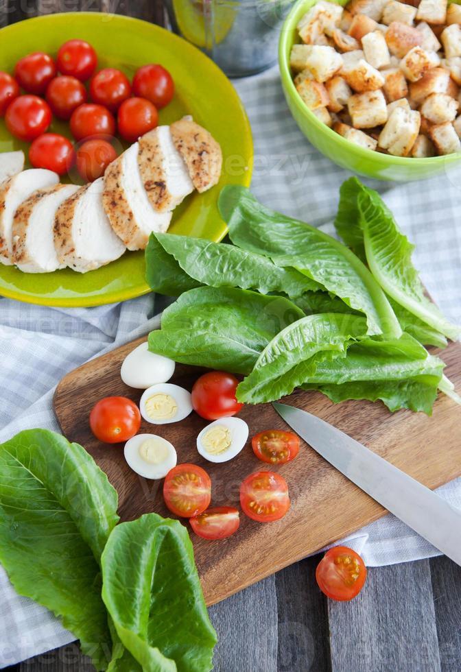 Caesar salad ingredients photo