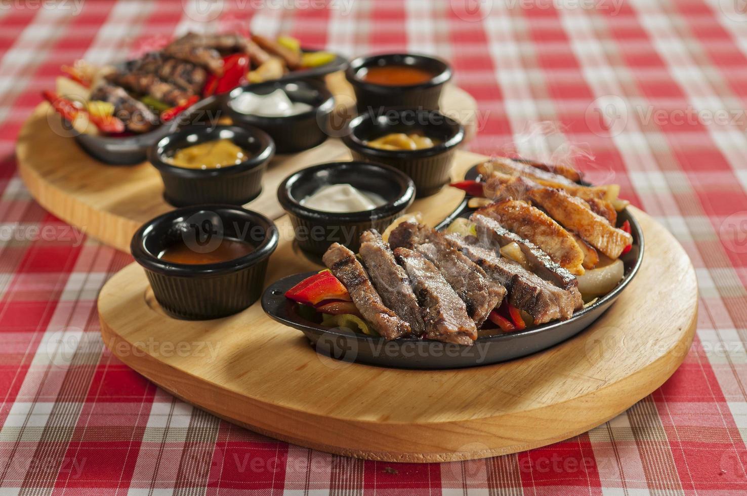 Chicken and Steak Fajitas photo
