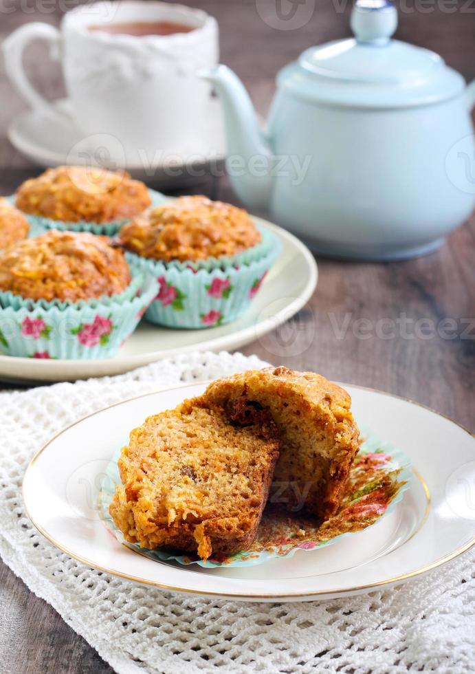 Carrot and apple muffins photo