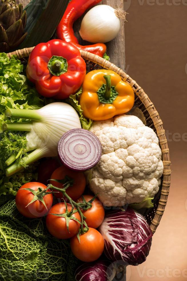 still life with vegetables photo