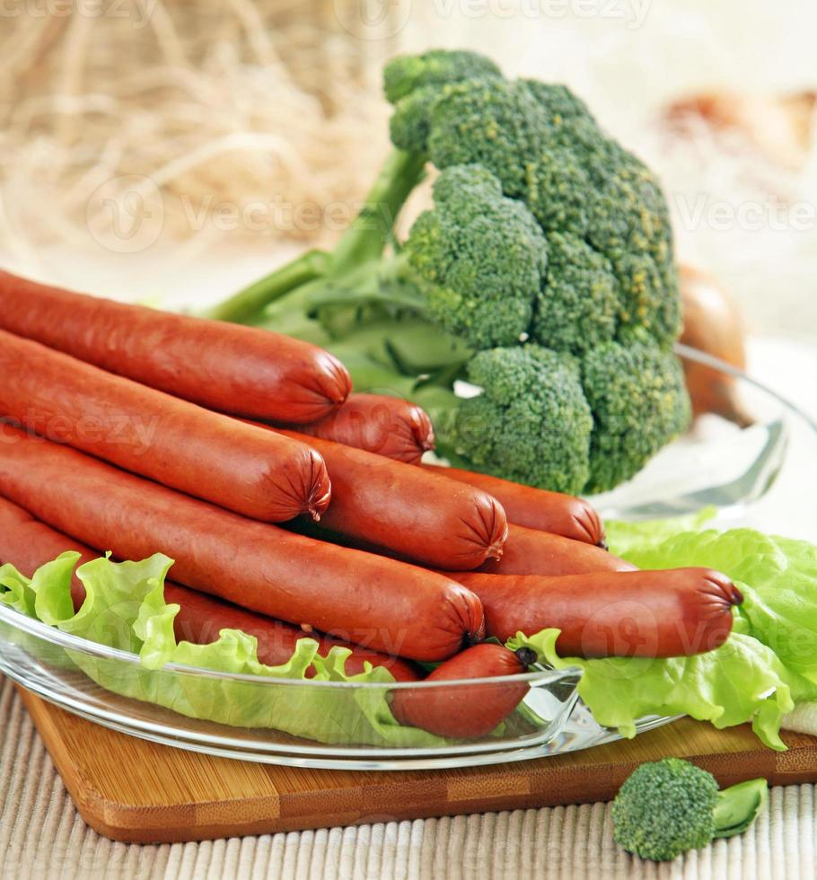 smoked sausages photo