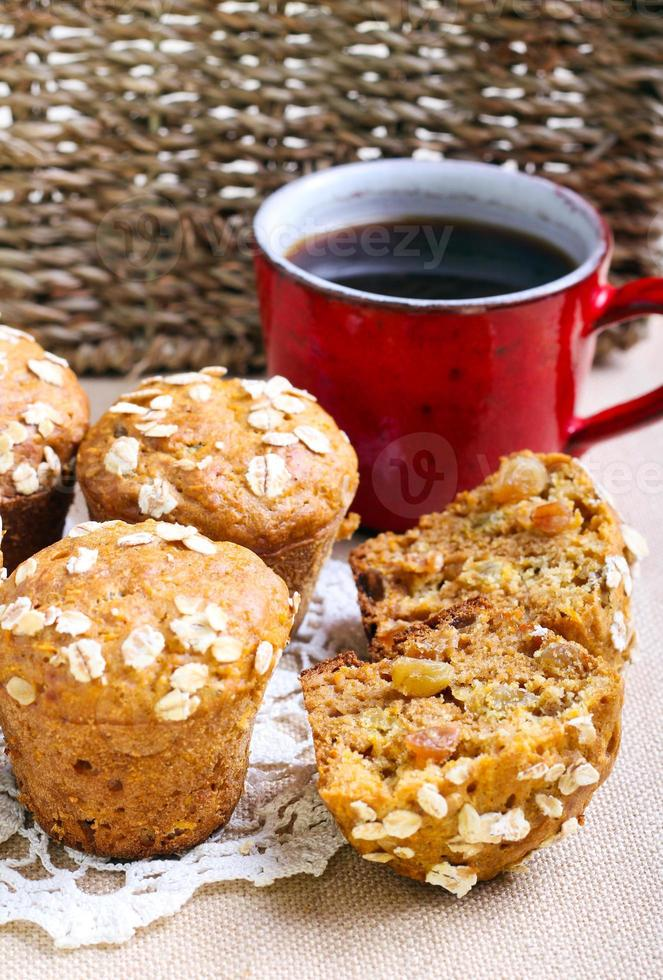 Oat muffins photo
