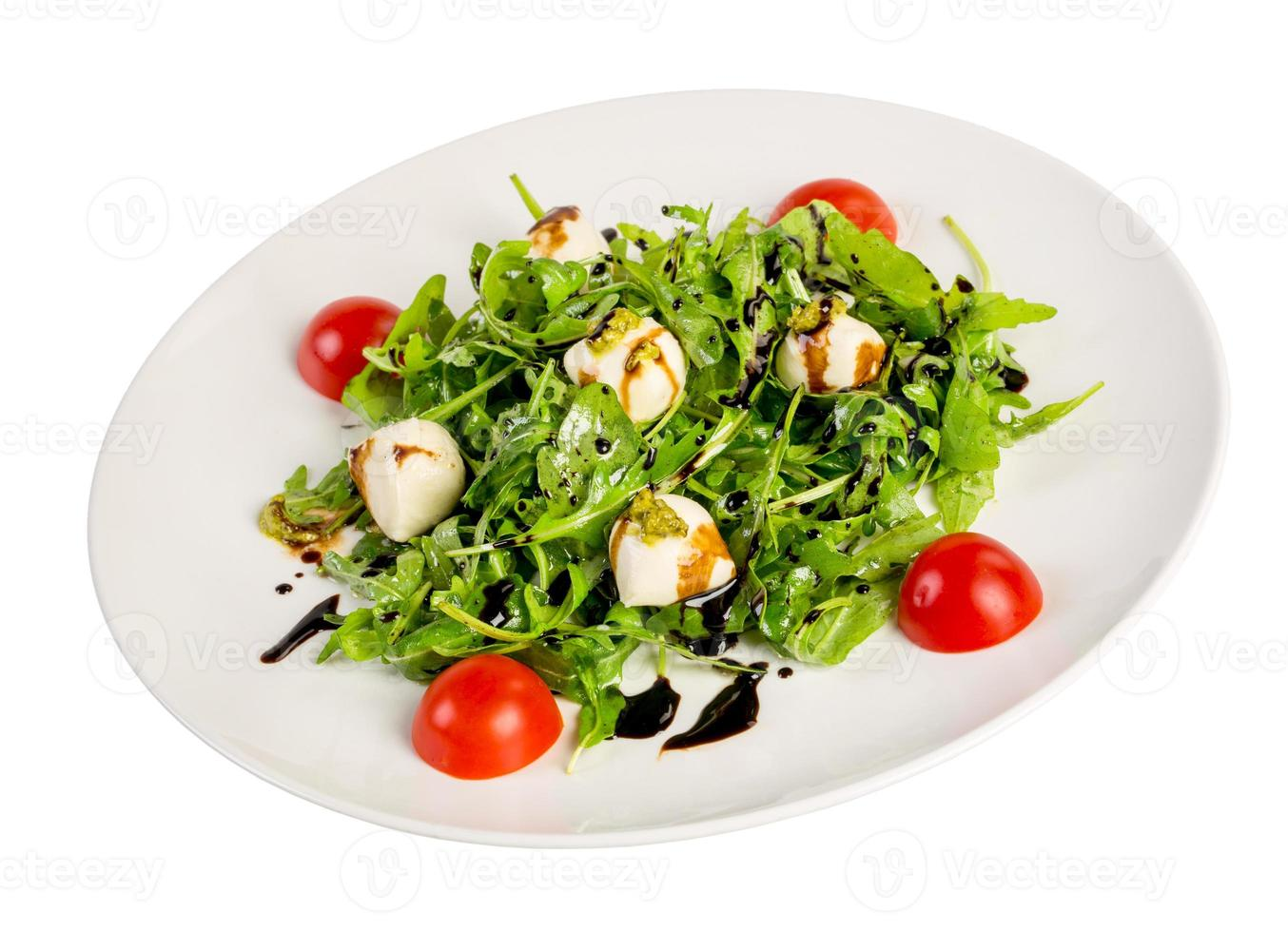 Salad from eruca and cheese photo