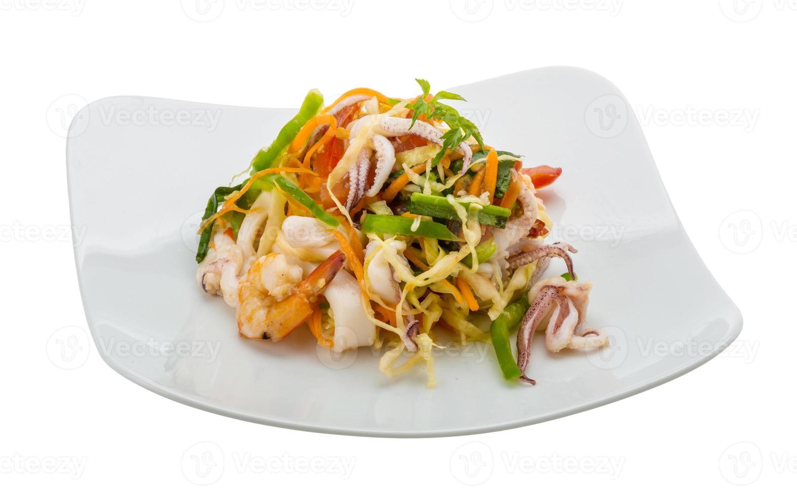 Asian seafood salad photo