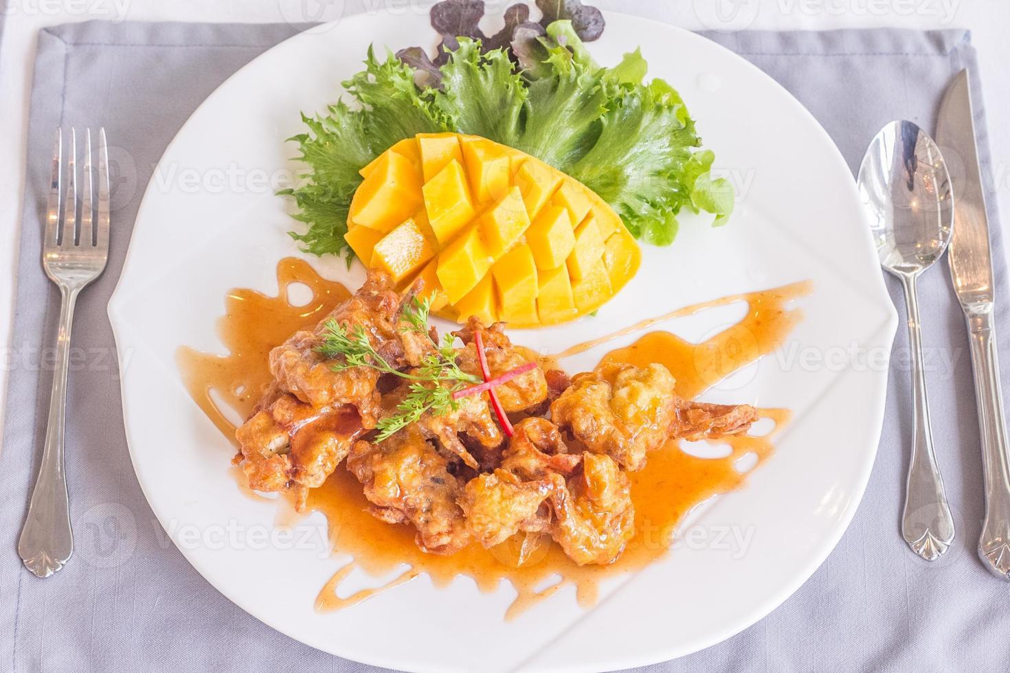 cangrejo de concha suave frito foto