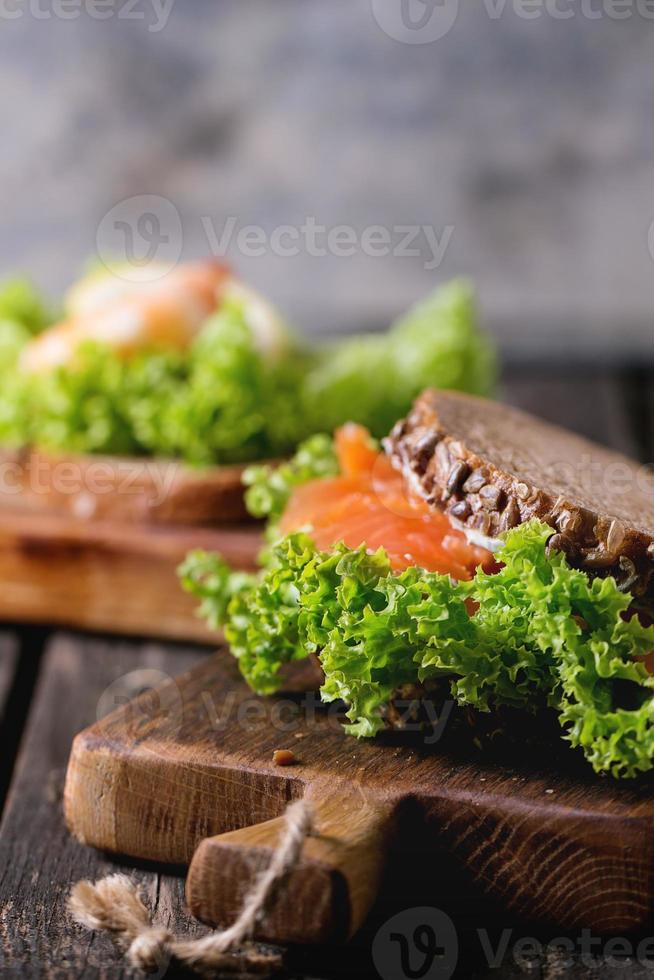 Sandwich with seafood photo