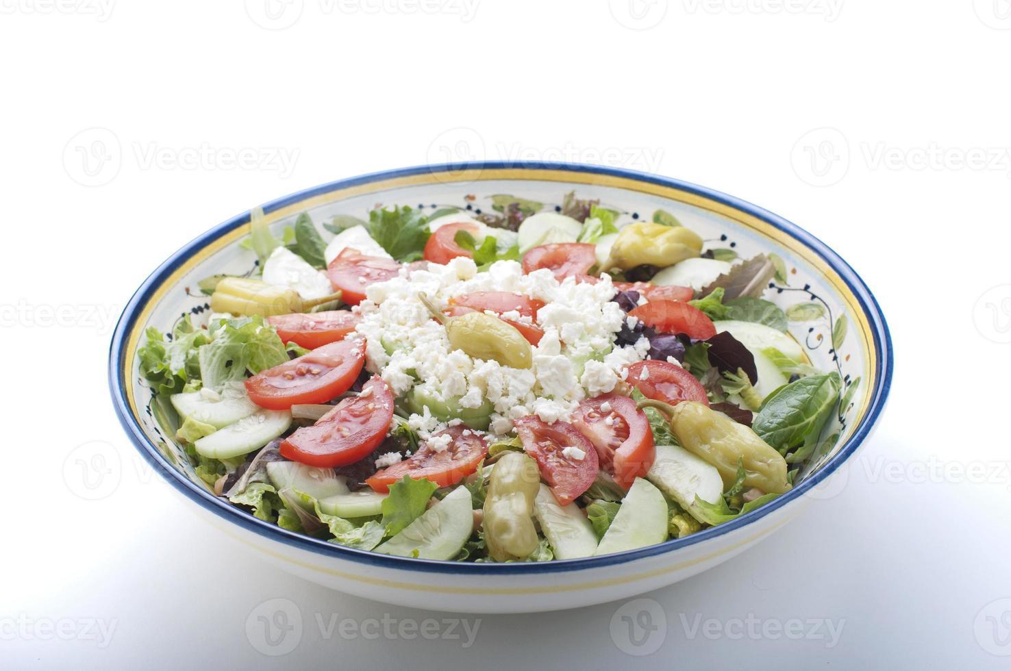 tigela de salada grega foto