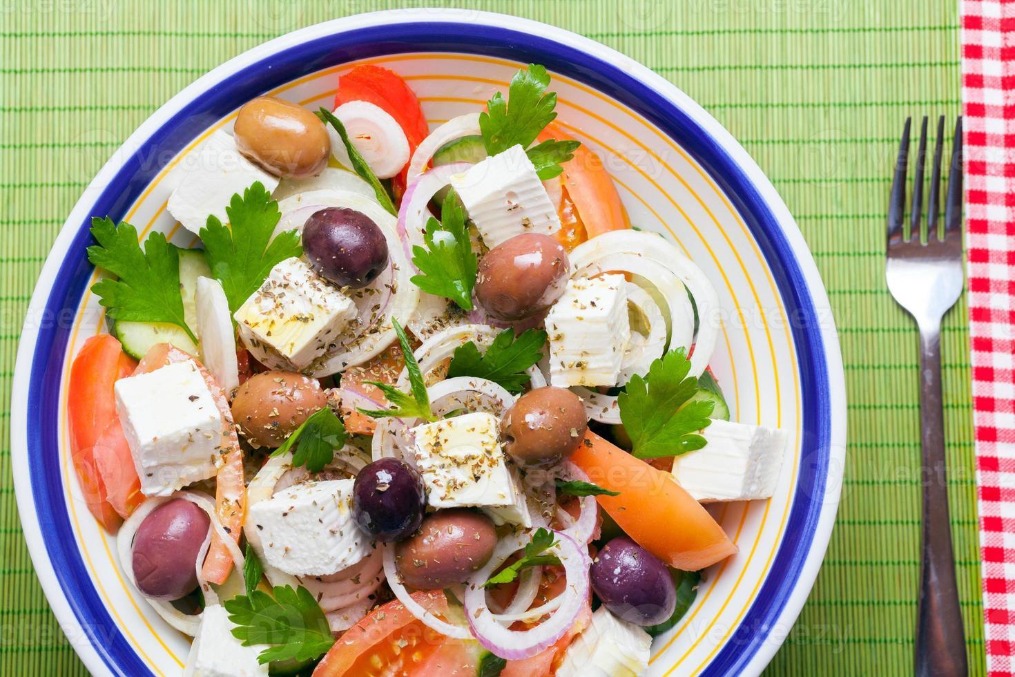 Traditional Greek village salad photo