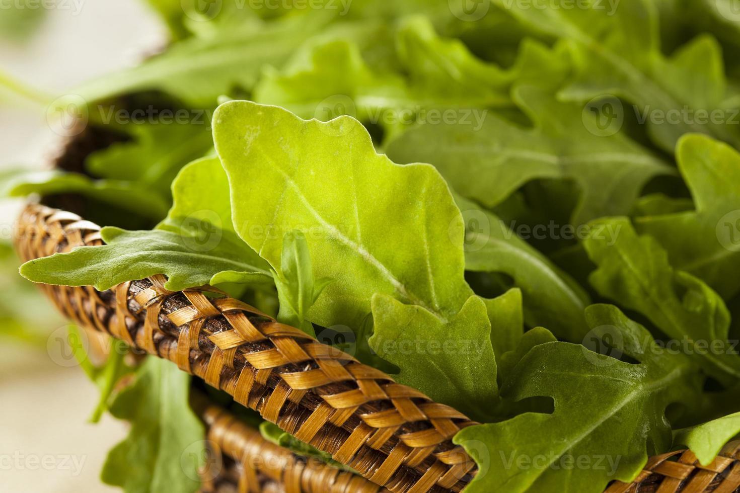 Organic Raw Green Arugula photo