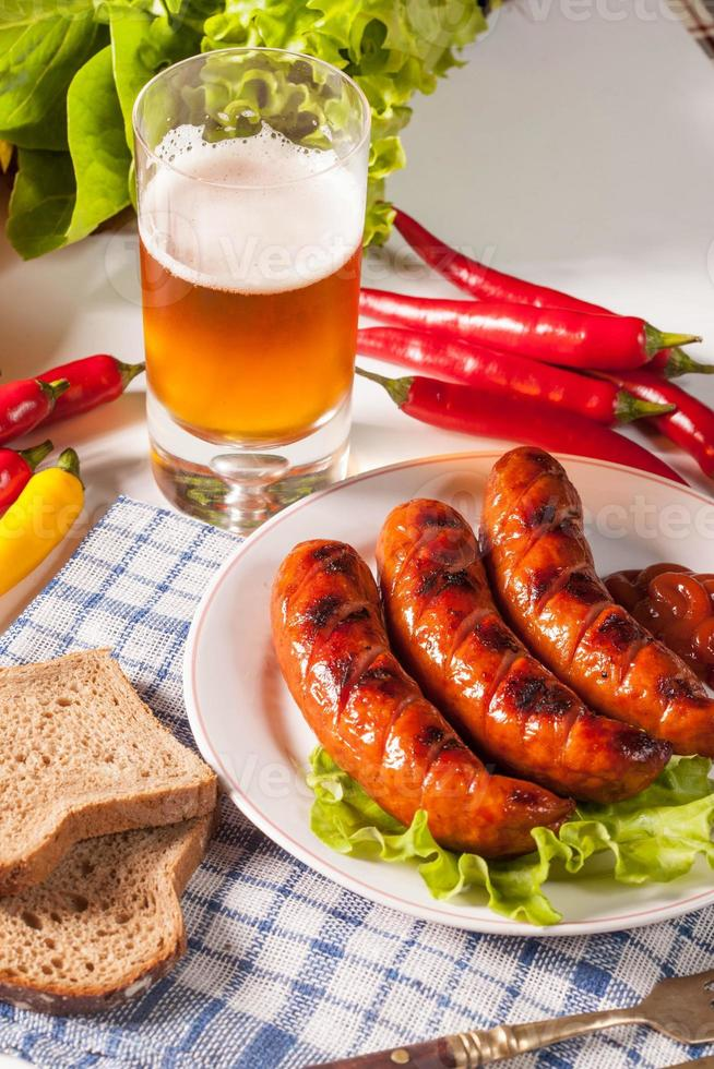 Grilled sausage. photo
