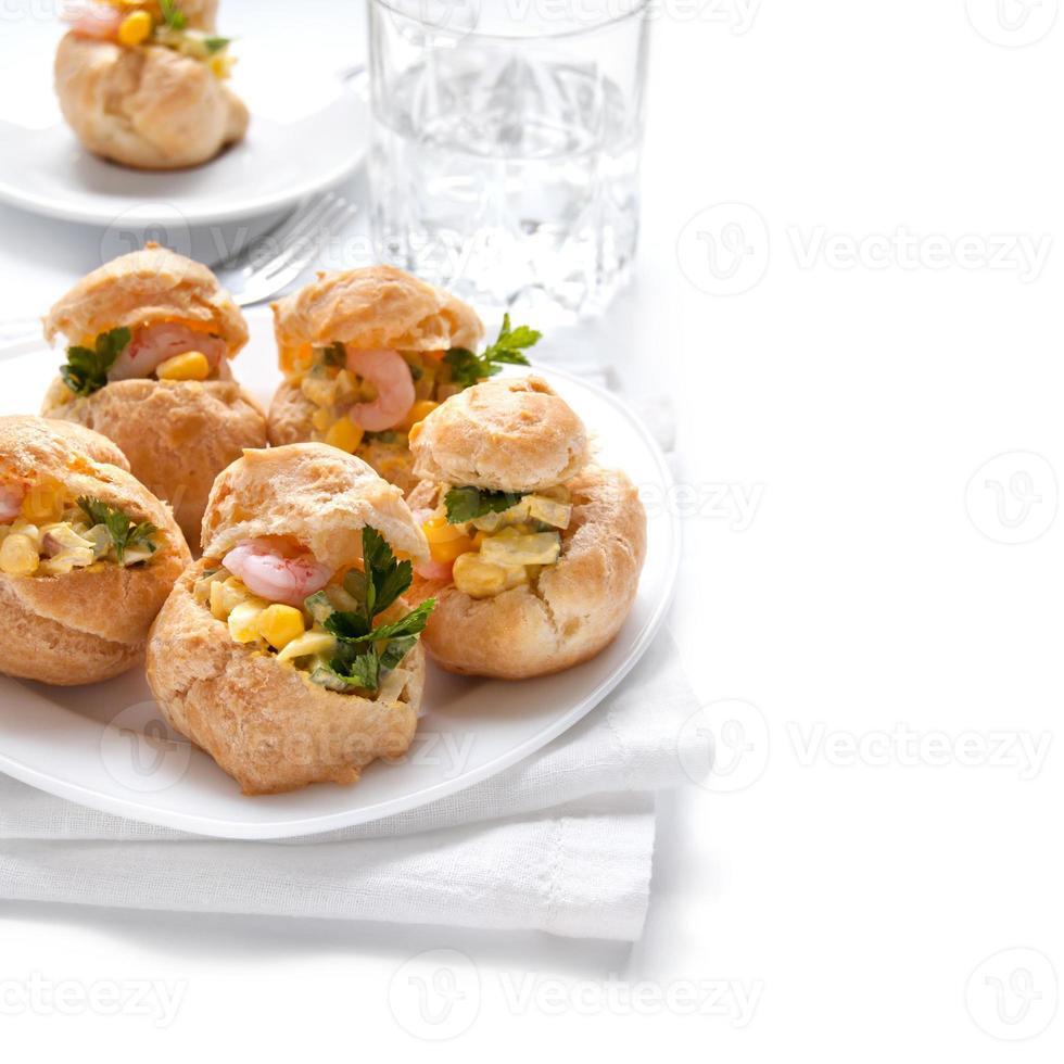Profiteroles with a shrimp photo