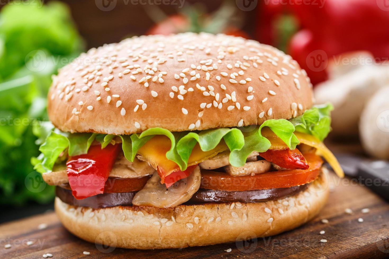 Vegetarian burger photo