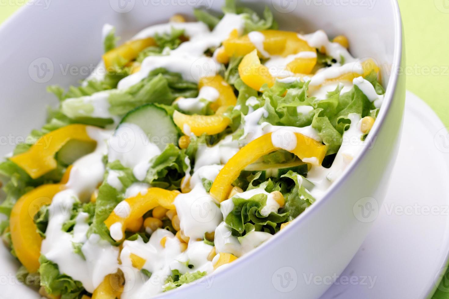 Close up of spring salad photo