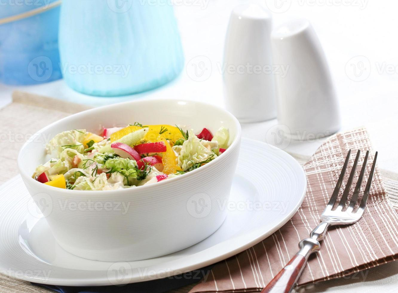 Spring salad - close up photo
