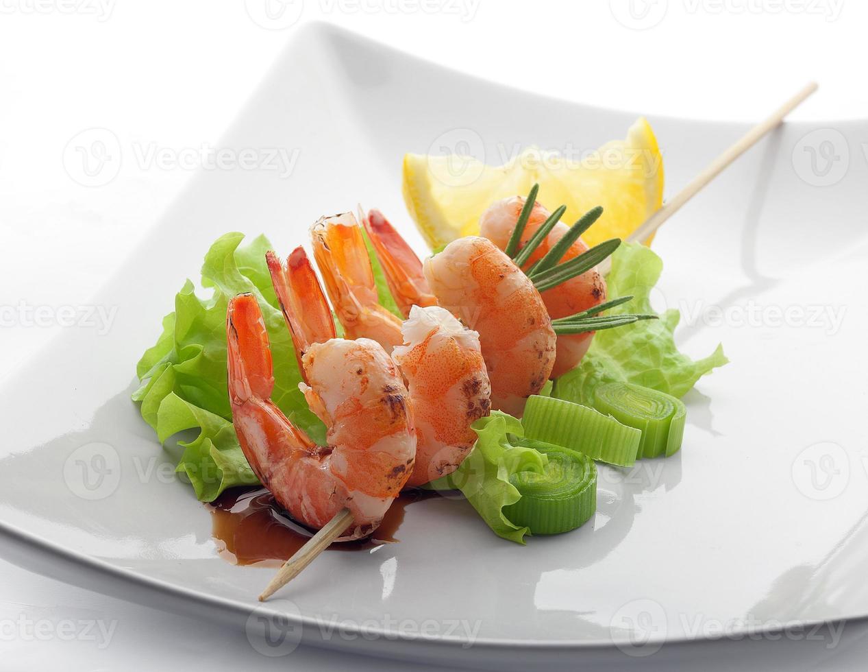 Roasted shrimps photo