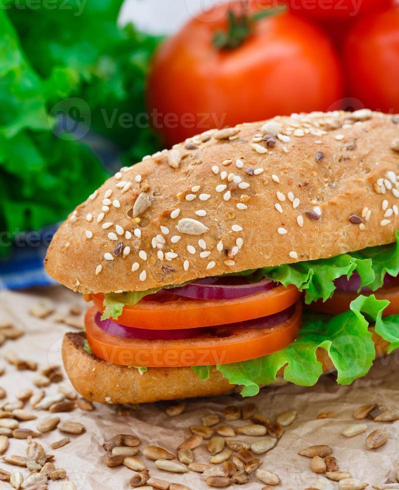 Fresh vegetable sandwich photo