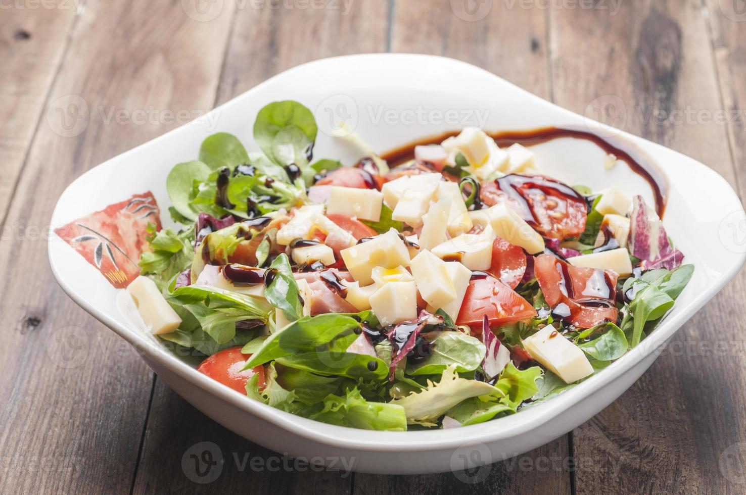 Salad with cheese photo