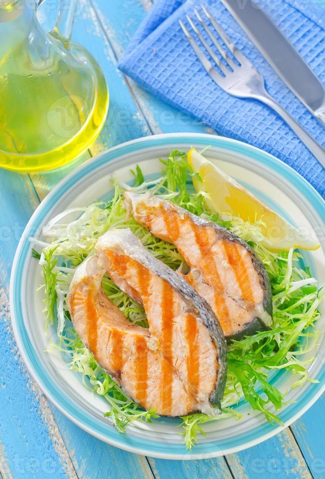 fried salmon photo