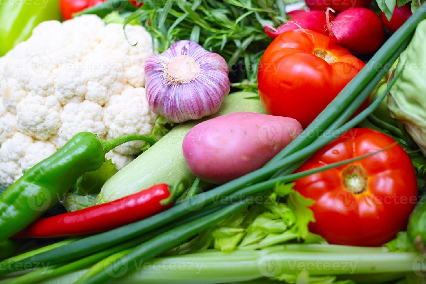 Vegetable background photo