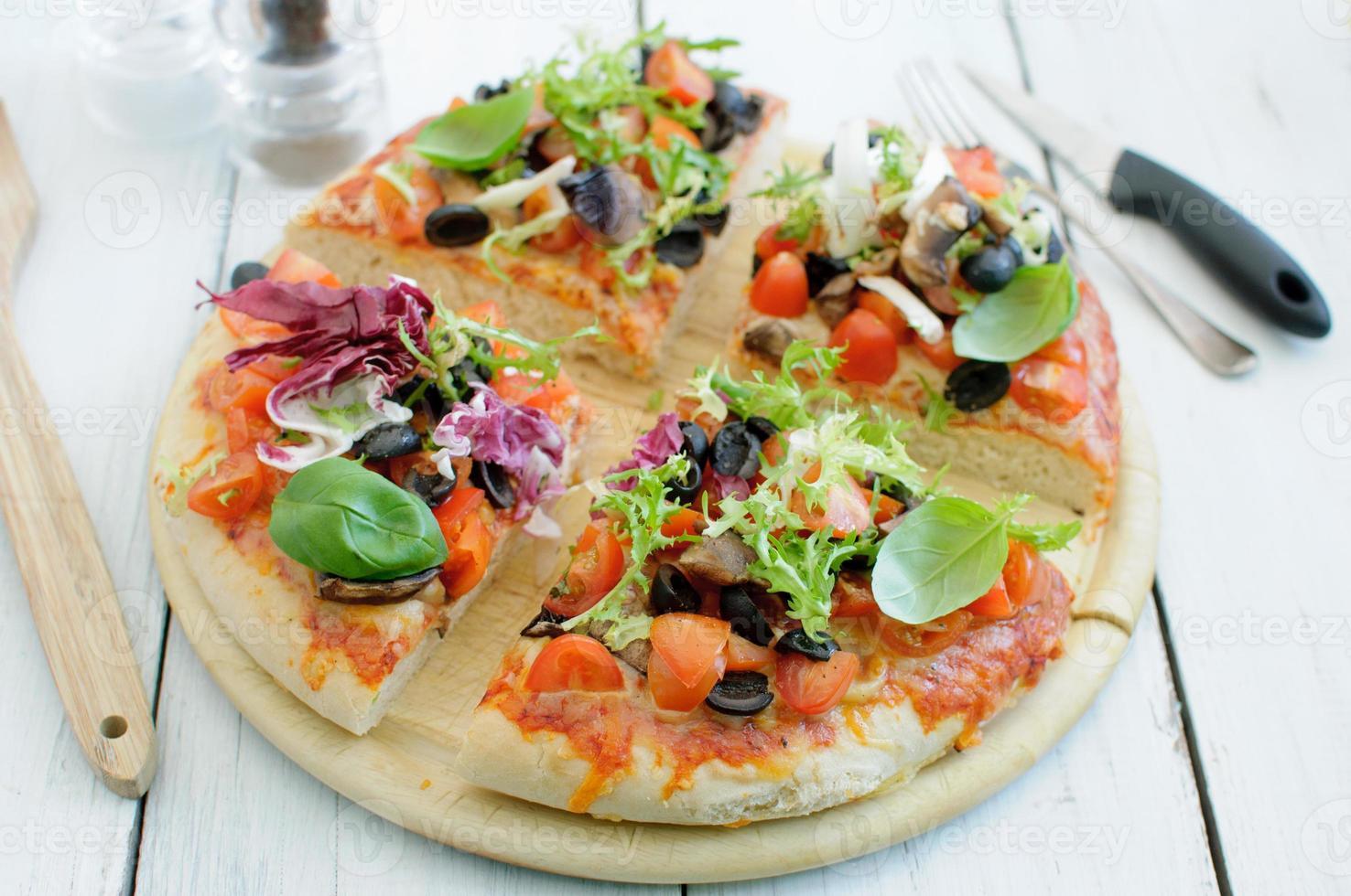 Gourmet pizza photo
