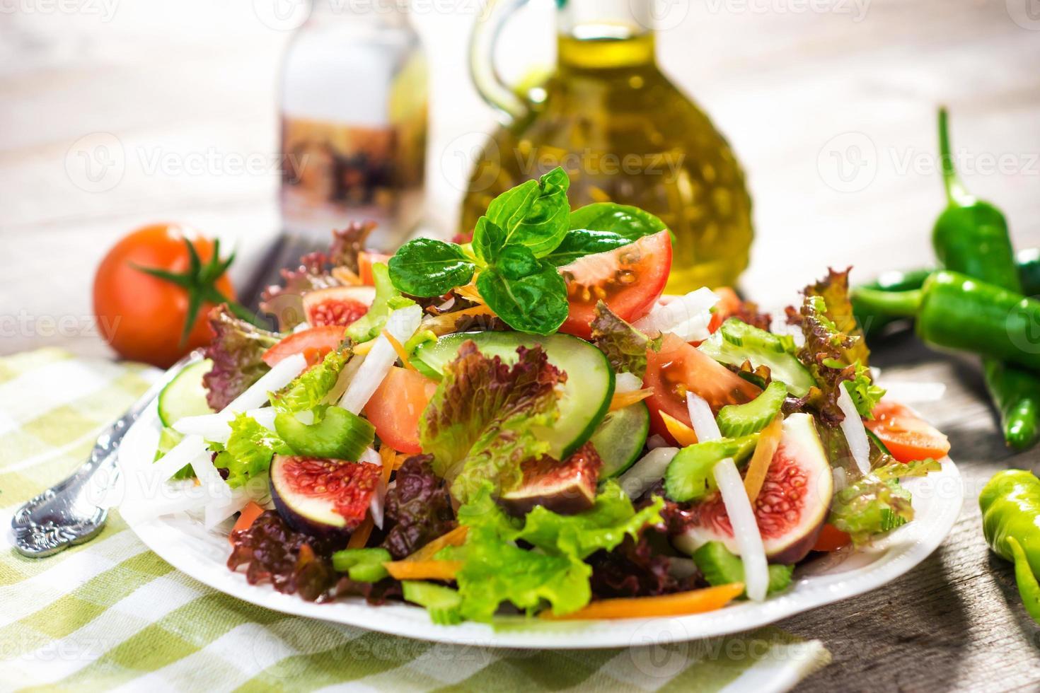 Healthy fresh salad photo