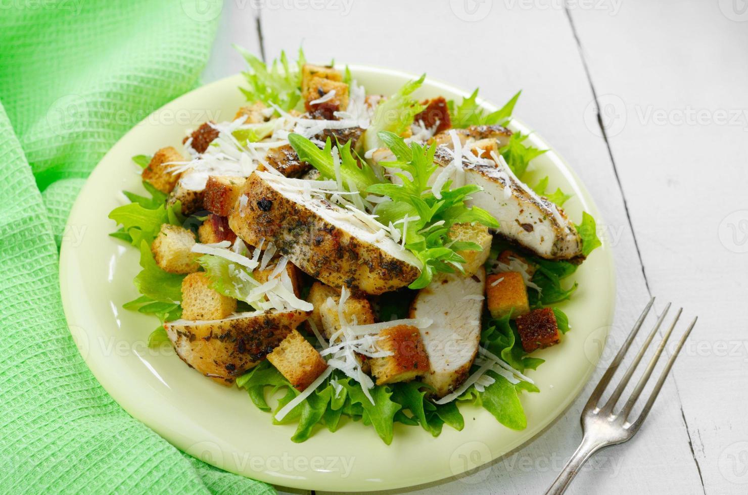 Caesar chicken salad photo