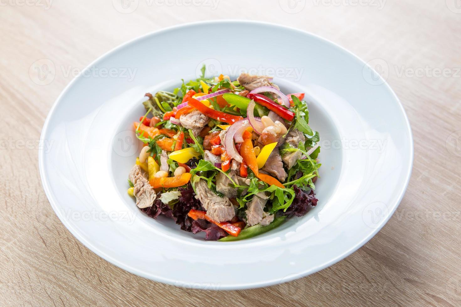 Tuna salad with vegetables photo