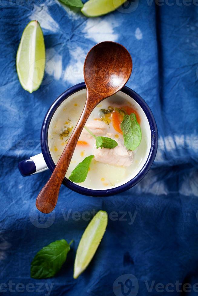 Finnish salmon soup photo