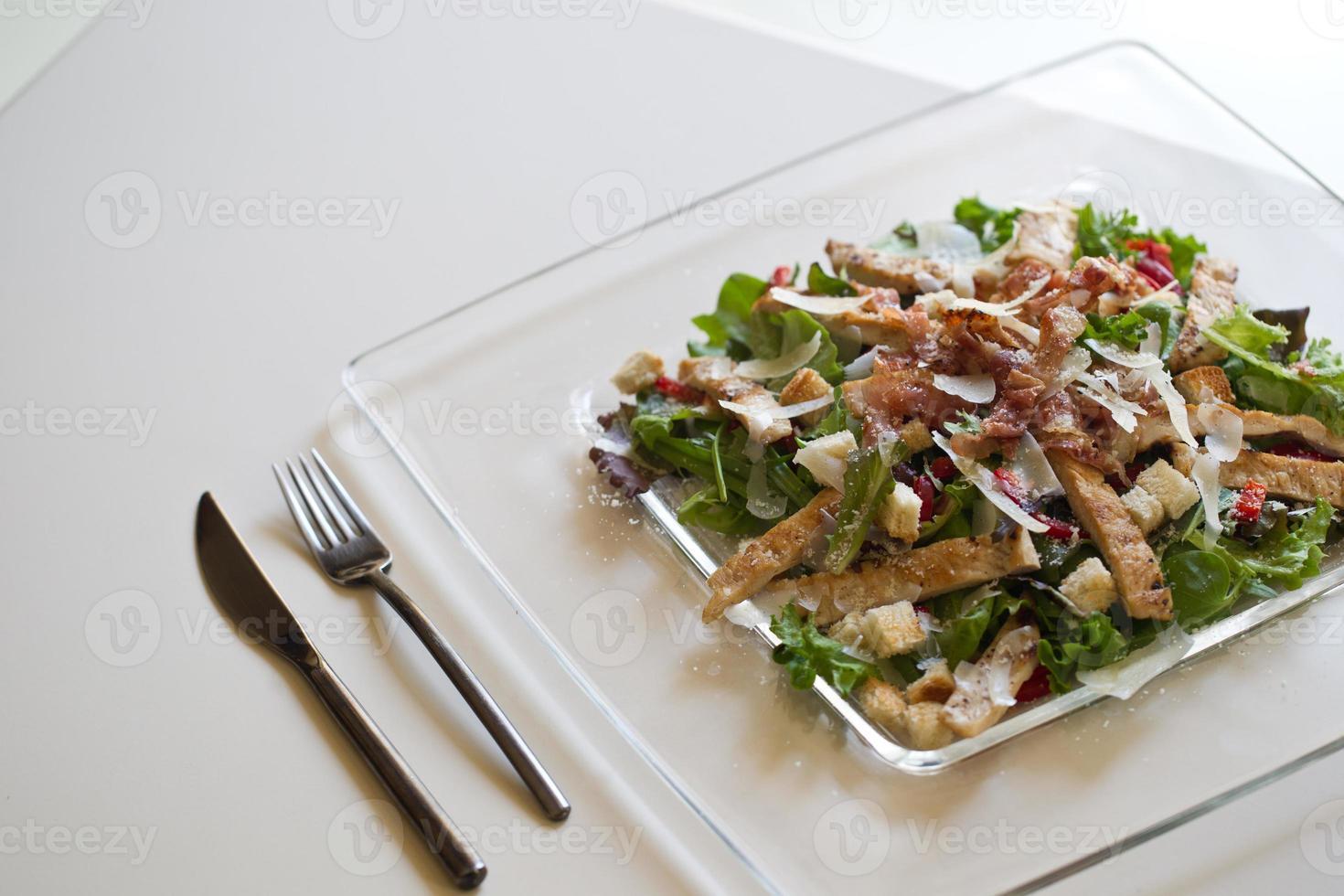 Delicious chicken salad photo