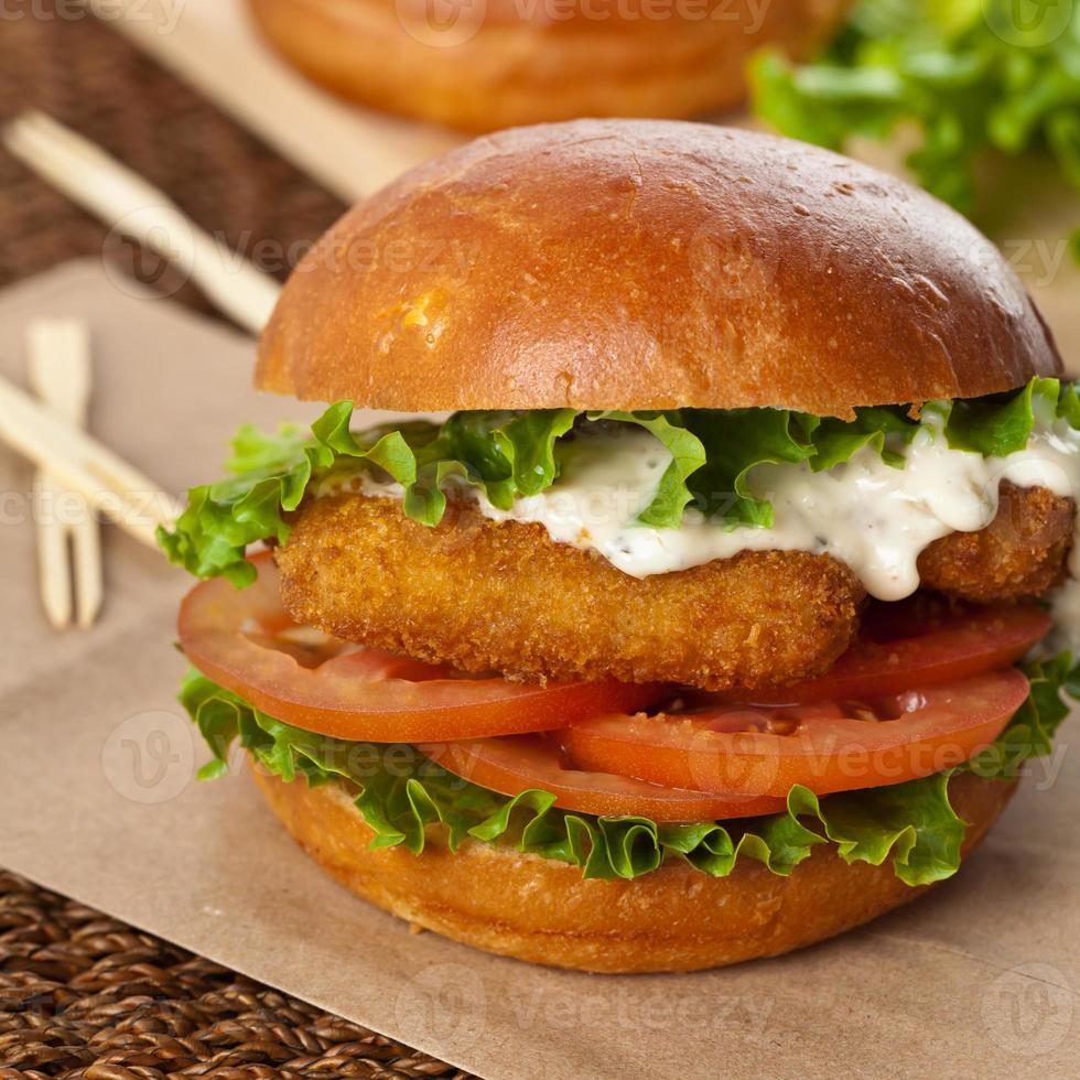 Fish burger photo