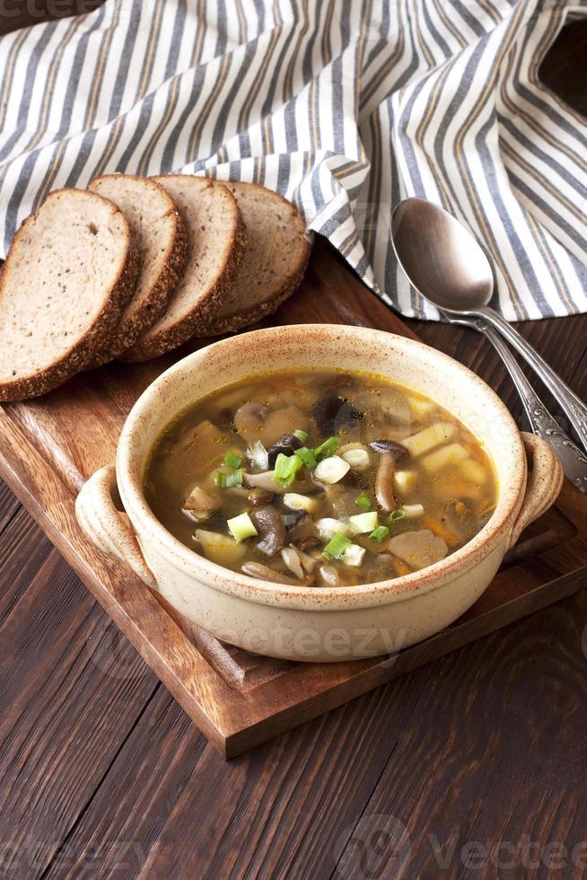 sopa con champiñones foto