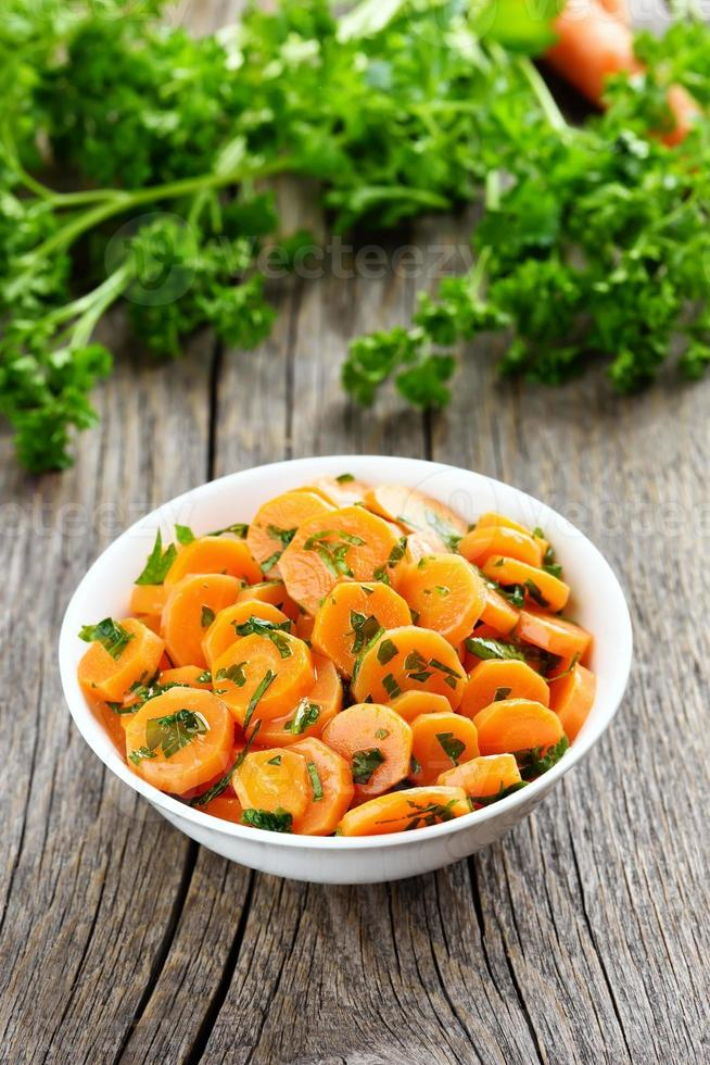 Vegetable salad from carrot photo