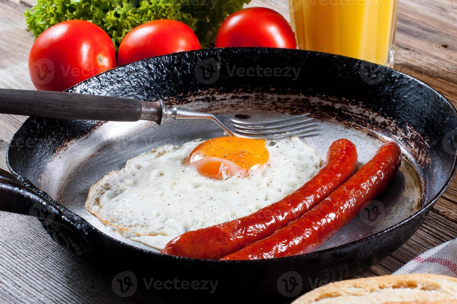 Fried egg. photo