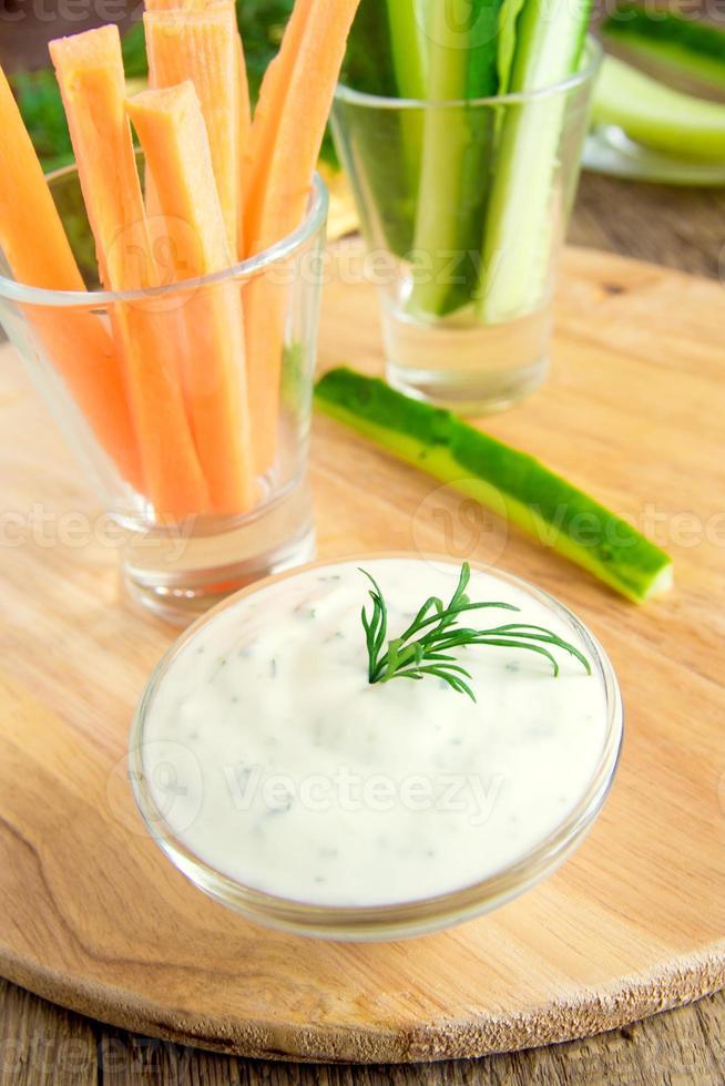 Tzatziki yogurt dip (sauce) photo