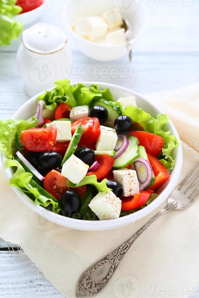 fresh salad with cheese photo