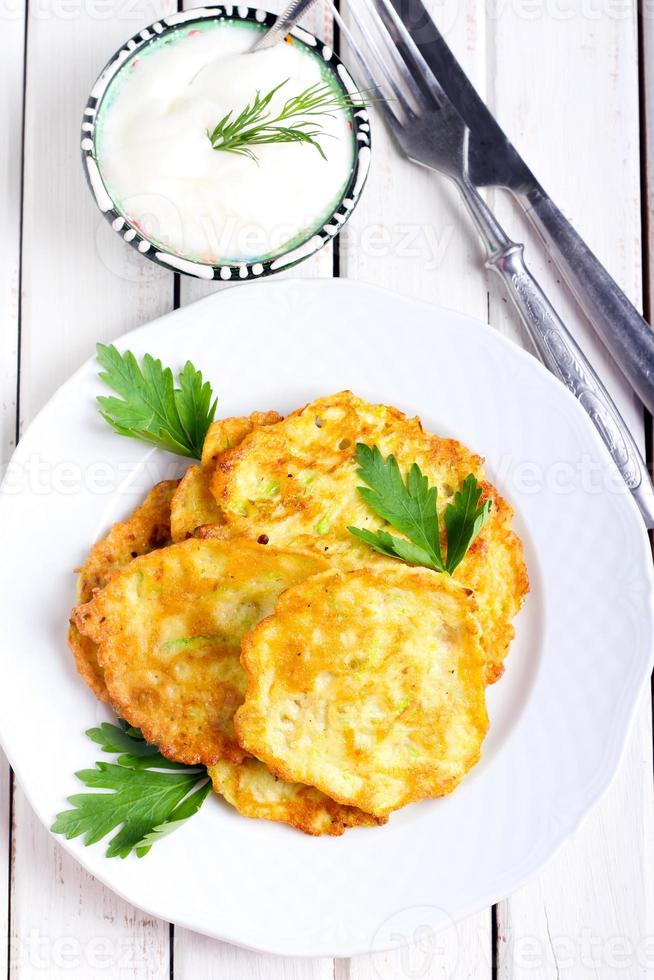 Courgette fritters photo