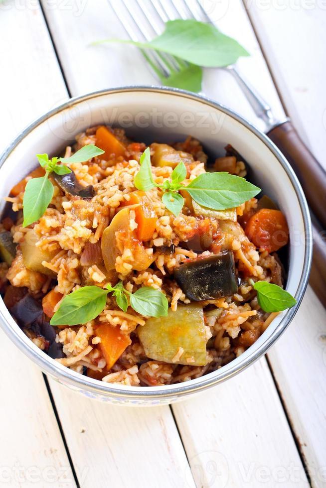 Vegetable stew photo