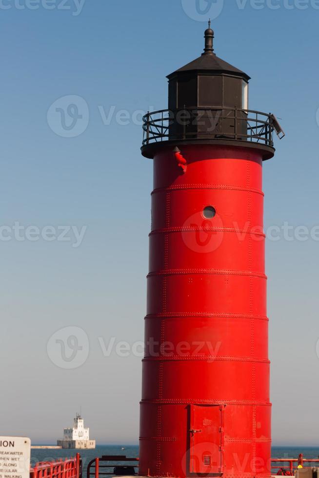 Milwaukee Pierhead Lighthouse Lake Michigan Breakwater Light Nautical photo
