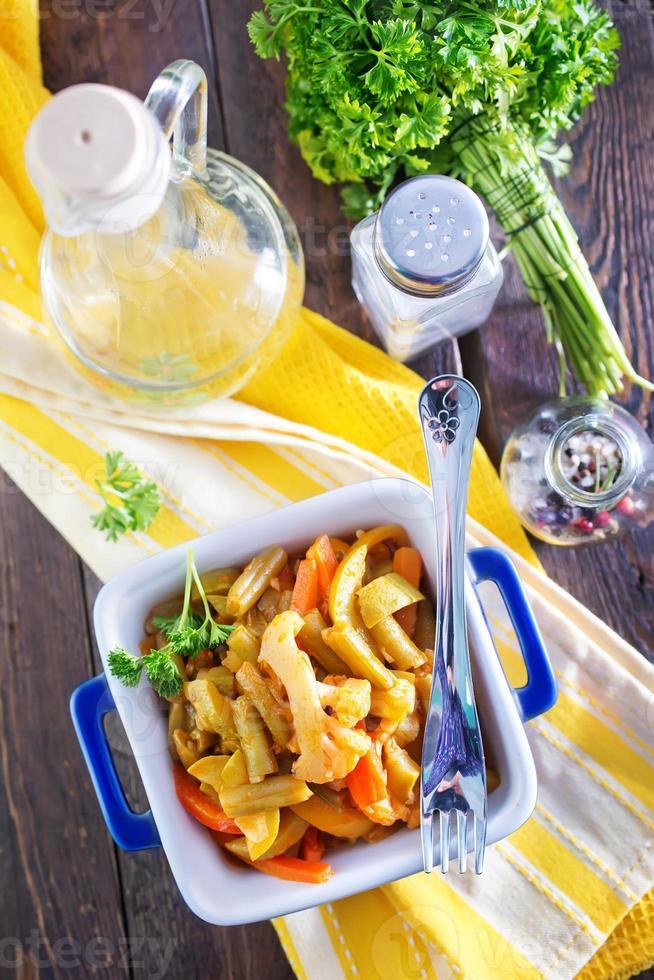 verduras al horno foto