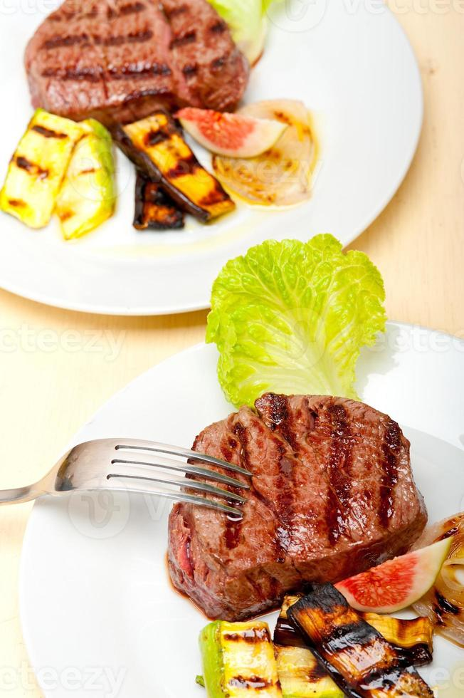 grilled beef filet mignon photo