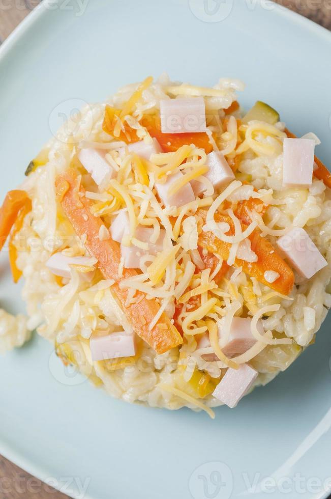 rice with zucchini photo