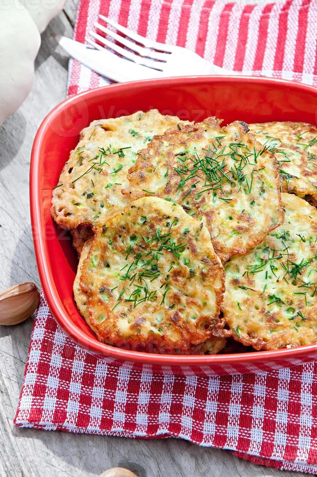 Zucchini pancakes photo