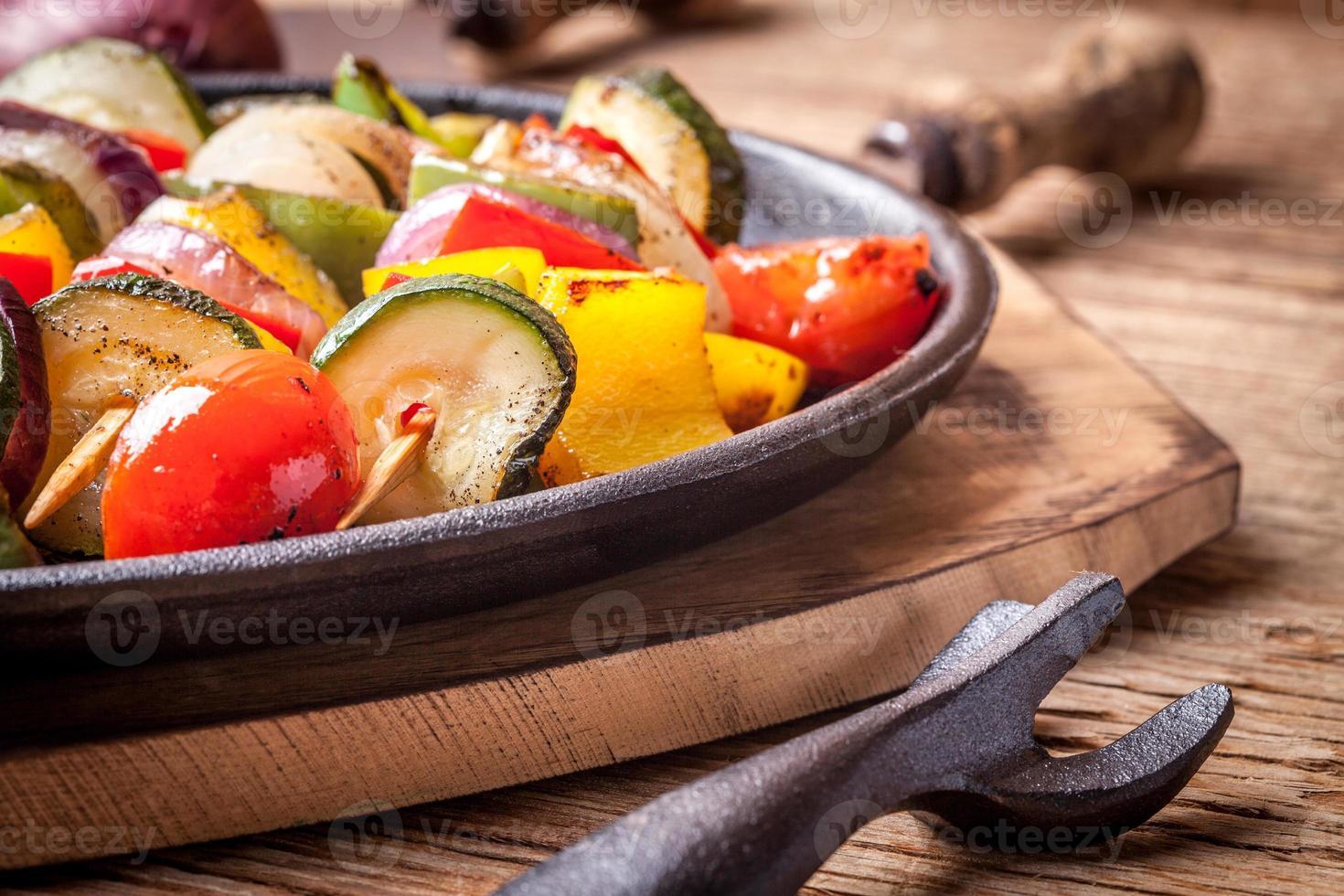 Vegetable skewers. photo
