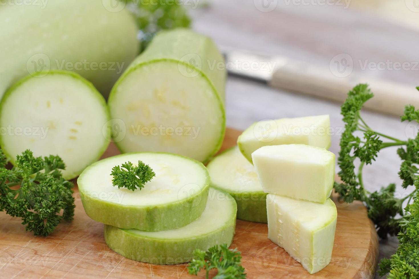 Fresh vegetable marrow and other vegetables for cooking photo
