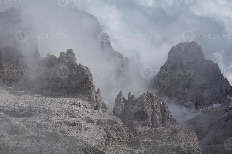 Misty rocks photo
