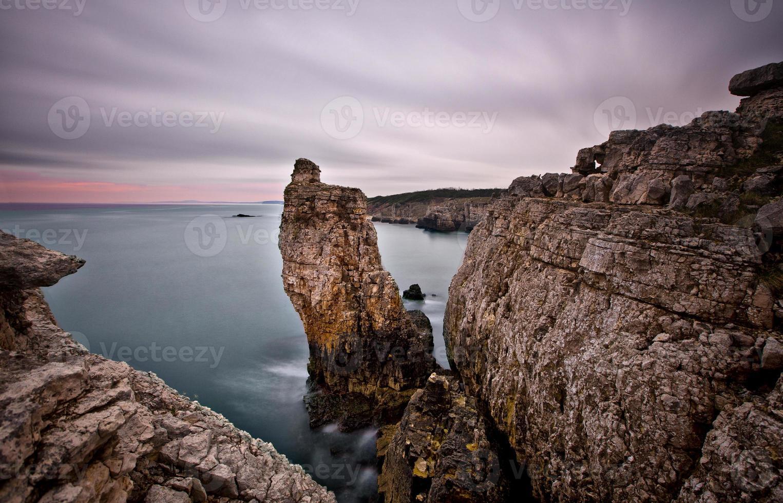 grandes rocas de larga exposición .. foto